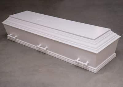 Enkel begravelseskiste hvid - kr. 6195,-